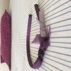 Purple multi bows headband